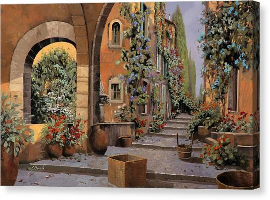 Street Scenes Canvas Print - Arco E Arcata by Guido Borelli