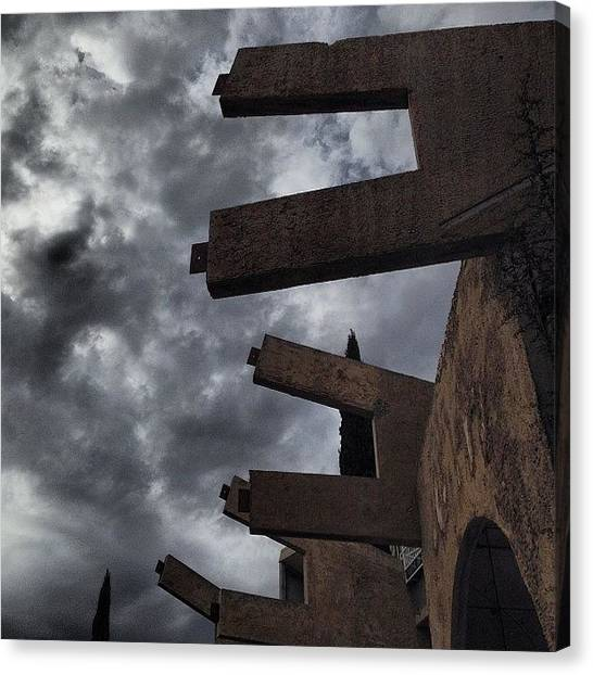 Futurism Canvas Print - #arcosanti by Hugo Lemes