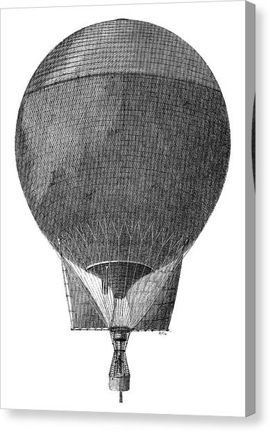 Eagle In Flight Canvas Print - Arctic Expedition 'eagle' Balloon by Science Photo Library
