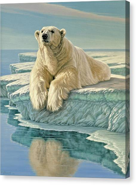 Polar Bears Canvas Print - Arctic Heir by Paul Krapf