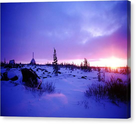 Arctic Sunset In Churchill Canada Canvas Print