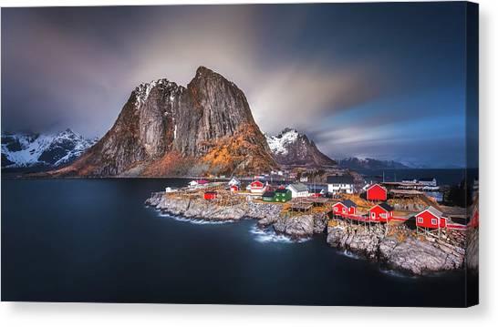 Red Rock Canvas Print - Arctic Wonderland by Rickard Eriksson