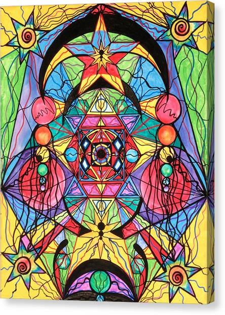 Sacred Canvas Print - Arcturian Ascension Grid by Teal Eye Print Store