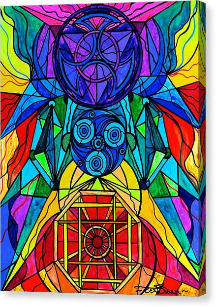 Sacred Geometry Canvas Print - Arcturian Conjunction Grid by Teal Eye  Print Store