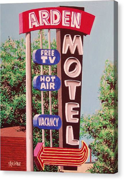 Arden Motel Canvas Print by Paul Guyer