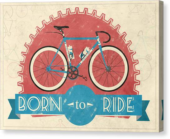 Bicycle Canvas Print - Are You Born To Ride Your Bike? by Andy Scullion