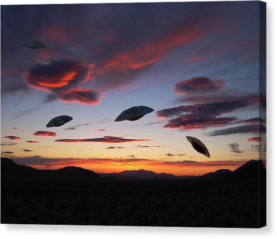 Area 51 Fly Zone Canvas Print