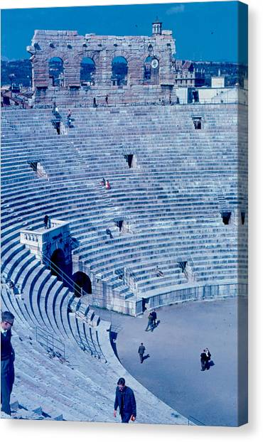 Arena Verona Interior 1962 Canvas Print by Cumberland Warden
