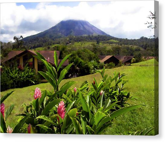 Arenal Volcano Canvas Print - Arenal Costa Rica by Kurt Van Wagner