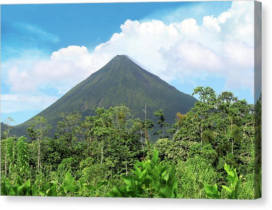 Arenal Volcano Canvas Print - Arenal Volcano, Arenal Volcano National by Miva Stock