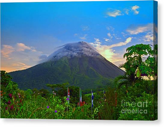 Arenal Volcano Canvas Print - Arenal Volcano Costa Rica by Gary Keesler
