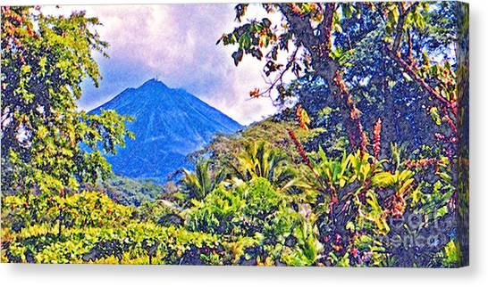 Arenal Volcano Canvas Print - Arenal Volcano Costa Rica by Jerome Stumphauzer