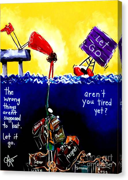 Aren't You Tired Yet? Canvas Print