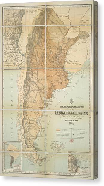 Immigration Canvas Print - Argentina by British Library