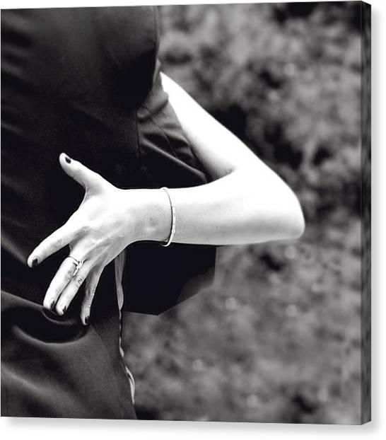 Tango Canvas Print - #argentina #tango #hand #black #white by Riccardo Lanfranchi