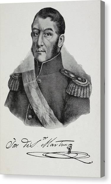Argentinian Canvas Print - Argentinian Soldier In Military Uniform by British Library