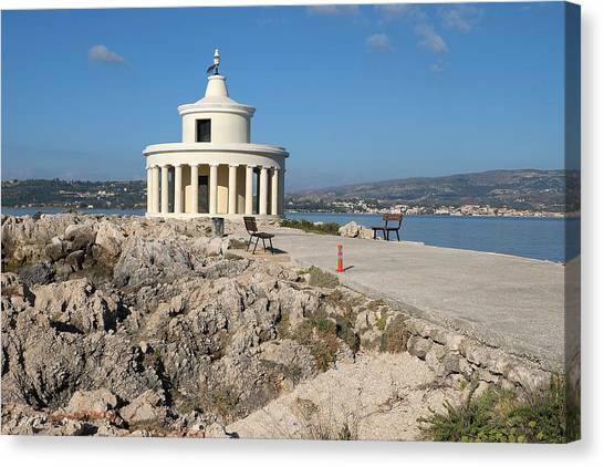Argostolion Greece Lighthouse Canvas Print