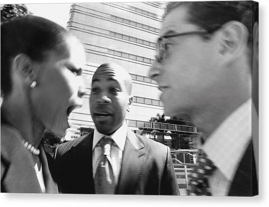 Arguing Business People Canvas Print by Digital Vision.
