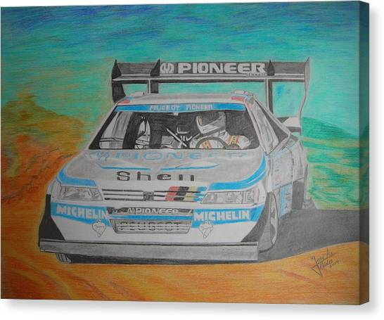 Ari Vatanen Canvas Print by Jose Mendez