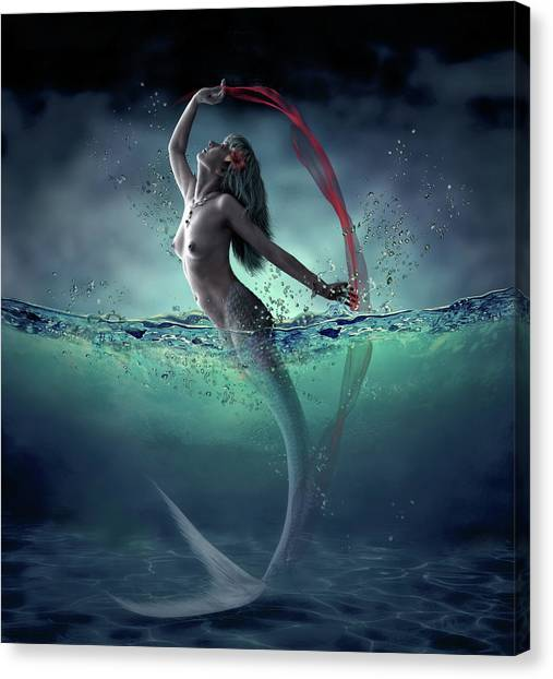 Mythological Creatures Canvas Print - Ariel by Dmitry Laudin