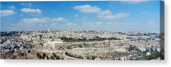 Palestinian Canvas Print - Ariel View Of The Western Wall by Panoramic Images