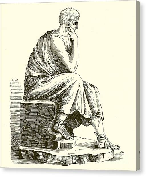 Philosopher Canvas Print - Aristotle by English School