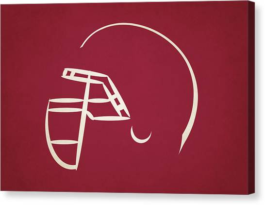 Arizona Cardinals Canvas Print - Arizona Cardinals Helmet by Joe Hamilton