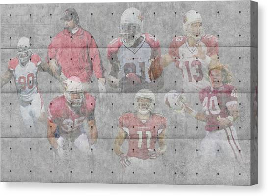 Arizona Cardinals Canvas Print - Arizona Cardinals Legends by Joe Hamilton