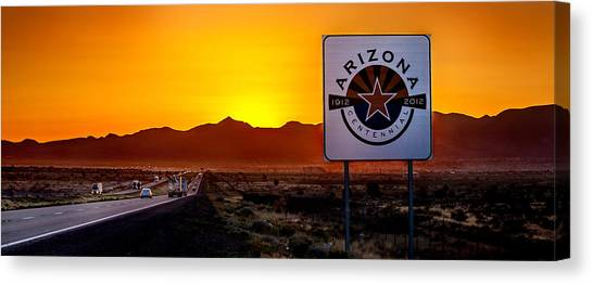 Traffic Canvas Print - Arizona Centennial by Az Jackson