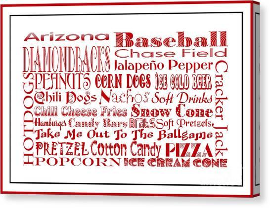 Arizona Diamondbacks Canvas Print - Arizona Diamondbacks Game Day Food 3 by Andee Design