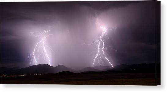 Arizona Lightning Storm Canvas Print