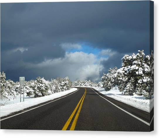 Arizona Snow 1 Canvas Print