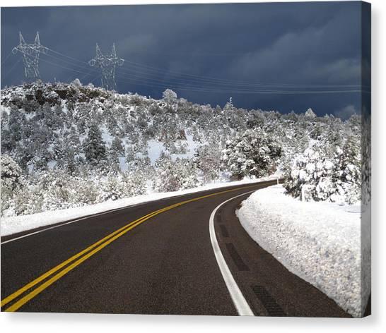 Arizona Snow 2 Canvas Print