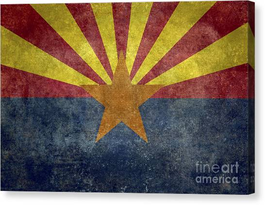 Arizona State Flag Canvas Print