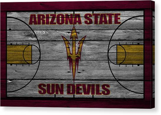 Ball State University Canvas Print - Arizona State Sun Devils by Joe Hamilton