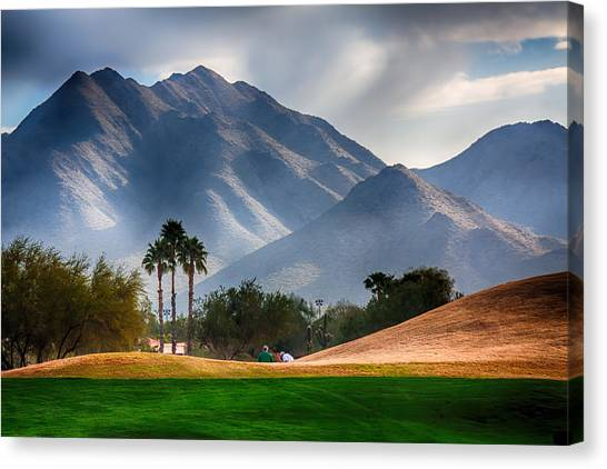 Arizona Sunrise Golfing Canvas Print