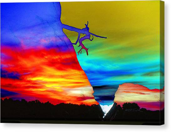 Arizona Sunset Collage Canvas Print