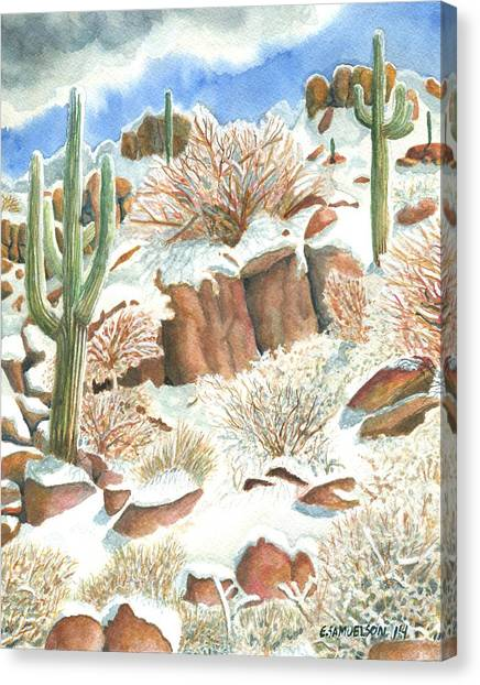 Arizona The Christmas Card Canvas Print