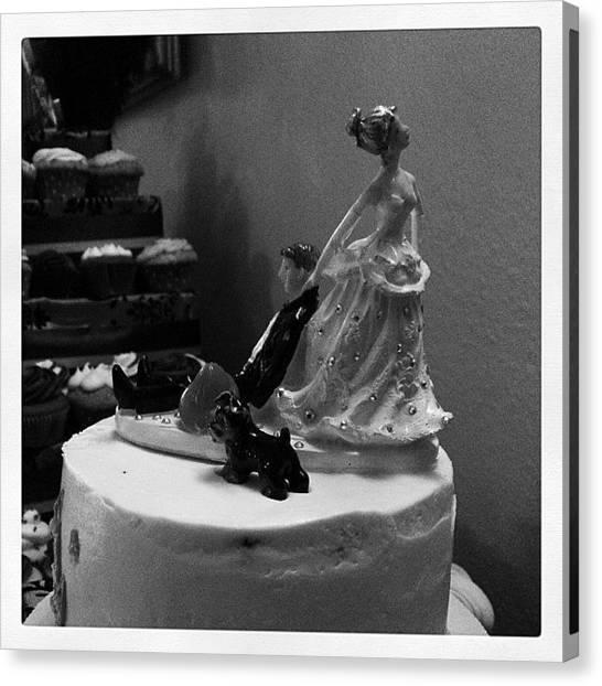 Groom Canvas Print - #arizonawedding #wedding #cake #bride by Erik Merkow