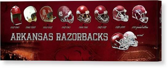 Arkansas Canvas Print - Arkansas Razorbacks Football Panorama by Retro Images Archive