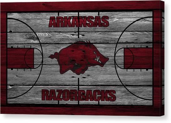 Ball State University Canvas Print - Arkansas Razorbacks by Joe Hamilton