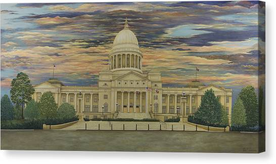 Arkansas State Capitol Canvas Print