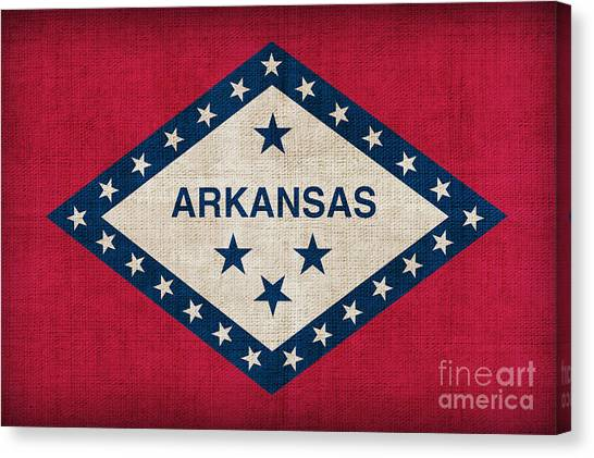 Arkansas Canvas Print - Arkansas State Flag by Pixel Chimp