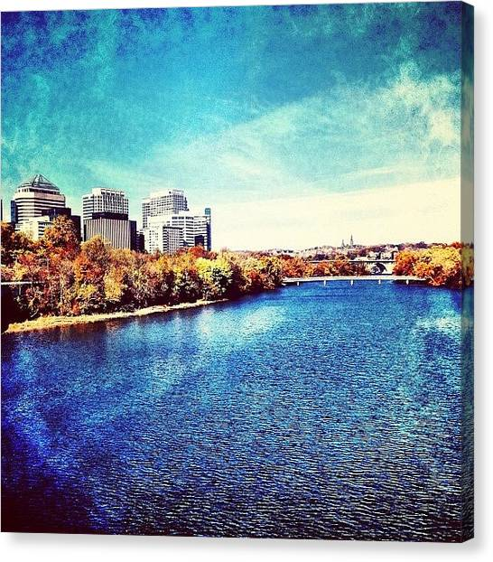 Washington Capitals Canvas Print - Arlington And The Potomac /// by Nick Lucey