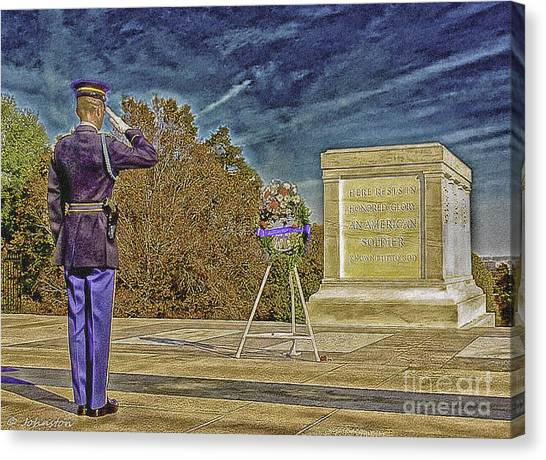 Arlington Cemetery Tomb Of The Unknowns Canvas Print