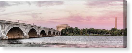 Lincoln Memorial Canvas Print - Arlington Memorial Bridge With Lincoln by Panoramic Images