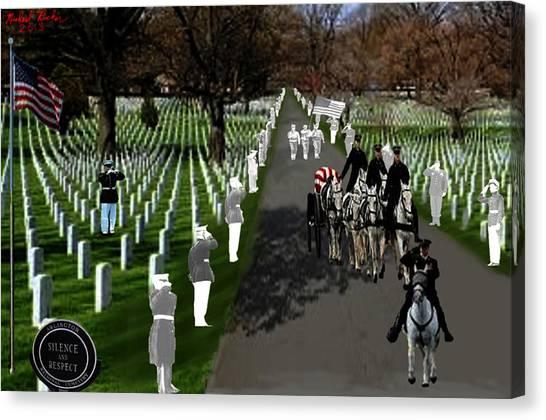 Us Civil War Canvas Print - Arlington National Cemetery by Michael Rucker