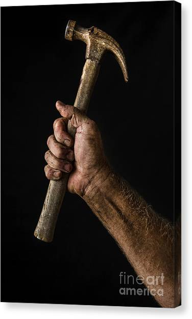 Hammers Canvas Print - Arm And Hammer by Diane Diederich
