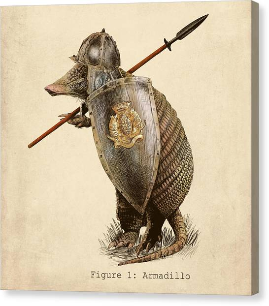 Pencils Canvas Print - Armadillo by Eric Fan