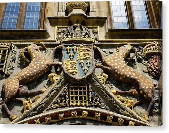 Yale University Canvas Print - Arms Of Christ's College by Paul D Stewart